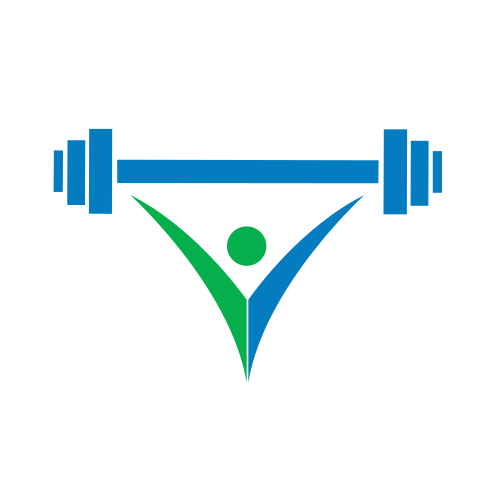 barbell, weight lifting, green, blue