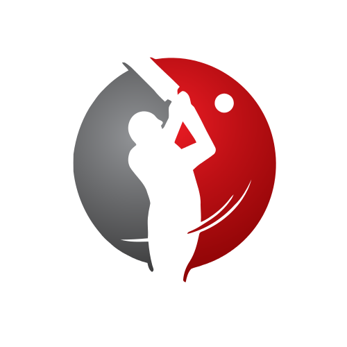 Red Cricket Batter Logo | GraphicSprings