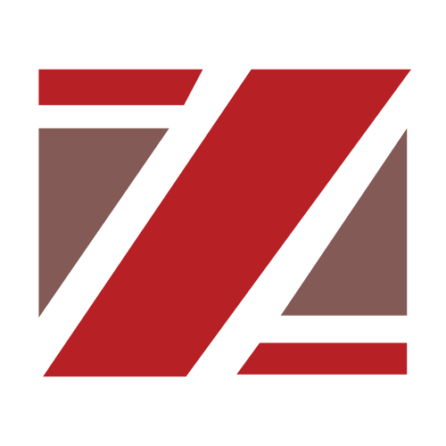 Red and Brown Letter Z