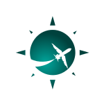 Green Airplane Logo