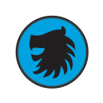 Blue Lion Horse Logo