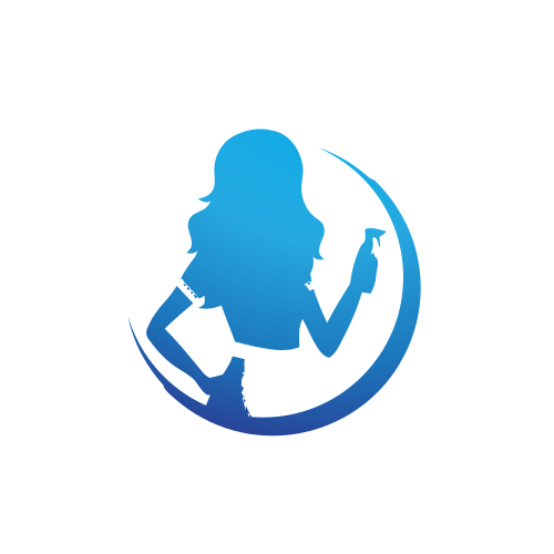 Woman Cleaner Arch  Logo