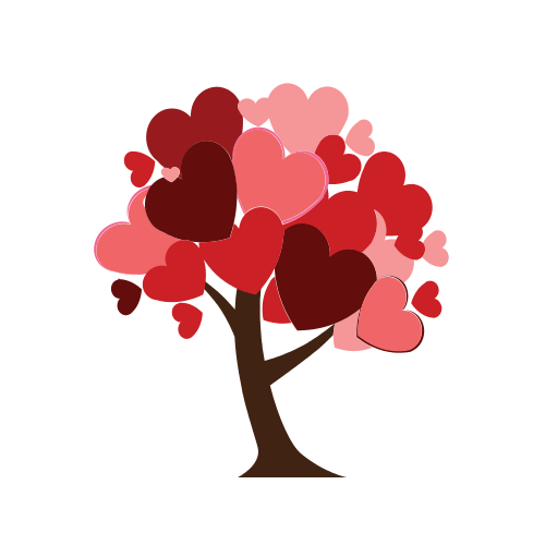 Heart Romance Tree  Logo