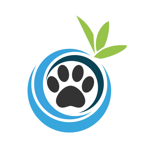 Dog Paw Leaves Logo