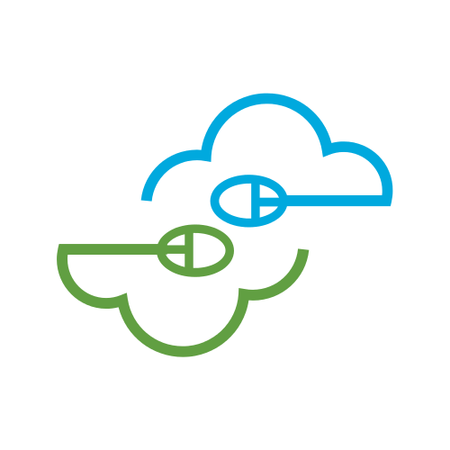 Computer Mouse Cloud Logo