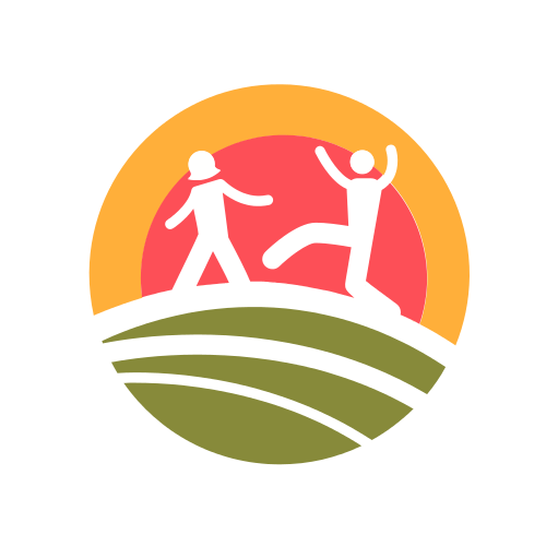 Children Sunset Playing  Logo