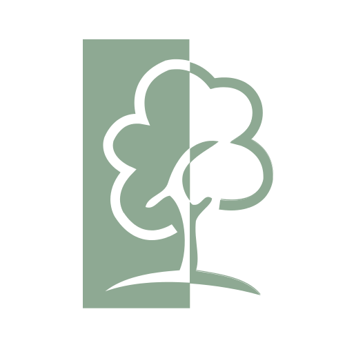 Green Contrast Tree  Logo