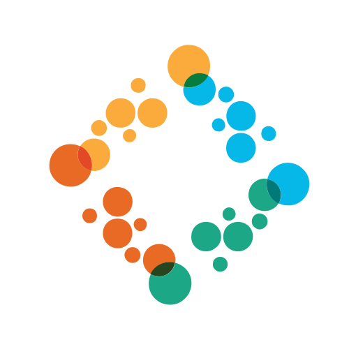 Color Bubbles Square  Logo