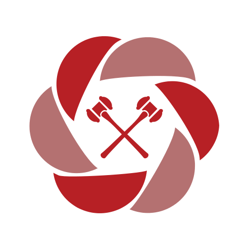 Red Judge Gavels  Logo