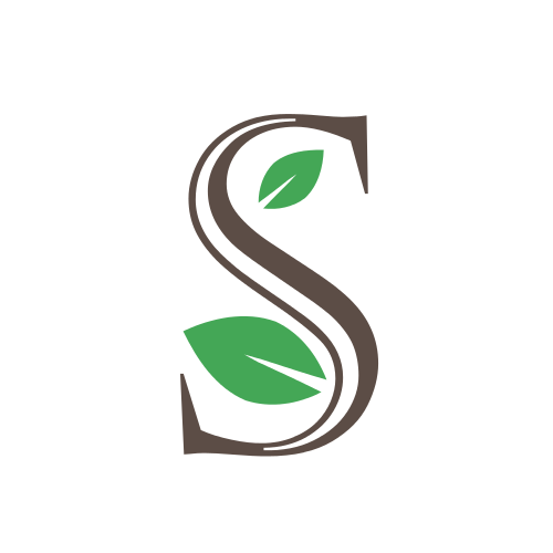 Letter S Leaves Logo