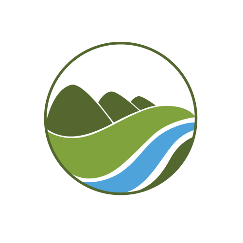 Green Hills and River Logo Logo