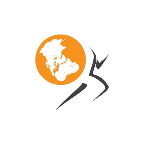 Business Runner Globe
