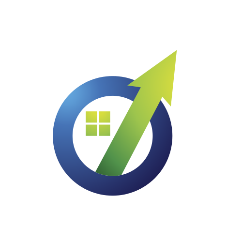 Real Estate Circle Arrow Logo