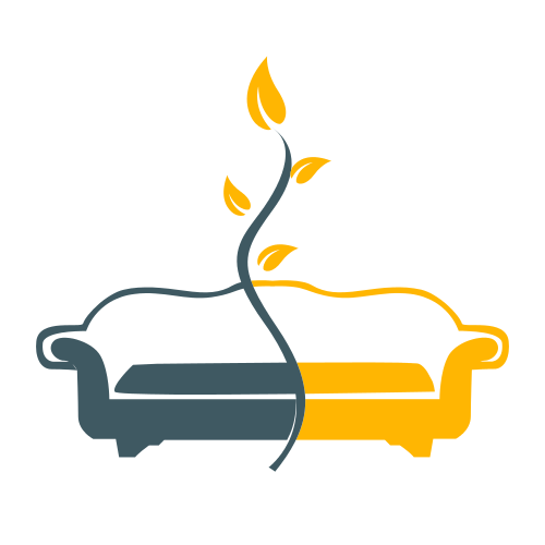 Couch Furniture Plant Logo