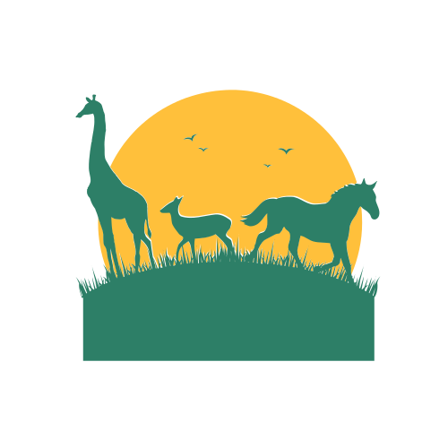 Giraffe Deer and Horse Logo