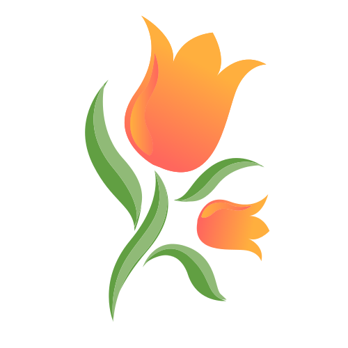 Two Orange Tulips  Logo