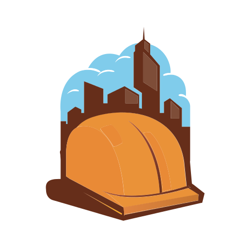 Construction Helmet Cityscape