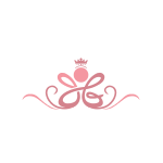 Pink Floral Crown Logo