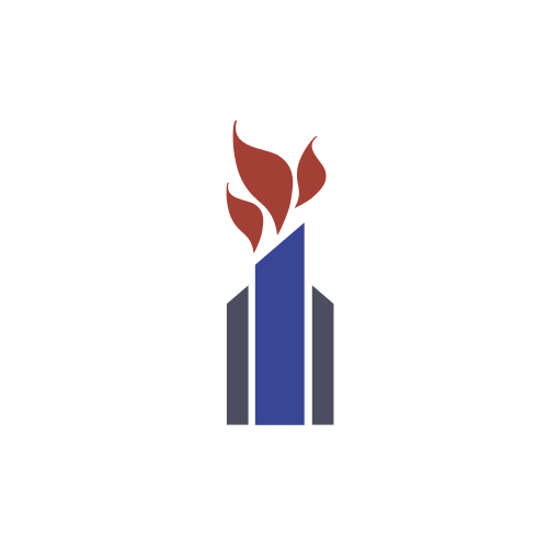 Religious Fire Torch  Logo