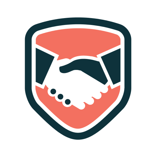 Business Handshake Shield  Logo