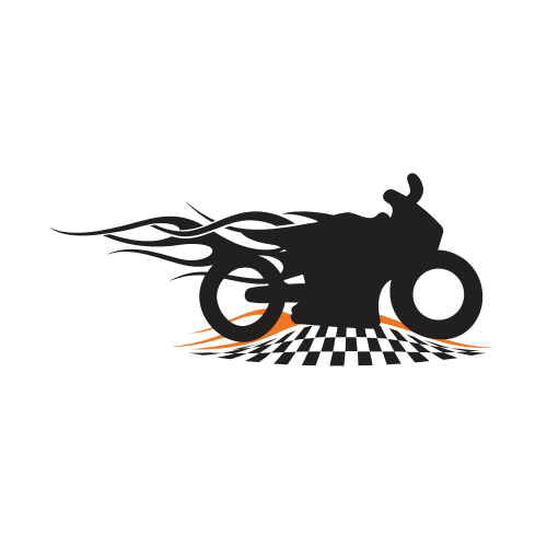 Racing Bike Flames  Logo