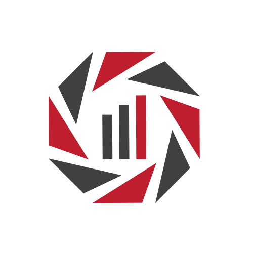 Red Lens and Chart Logo