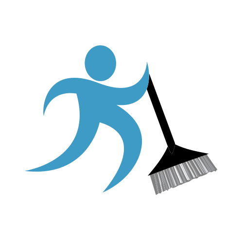 Cleaning Broom Staff Logo