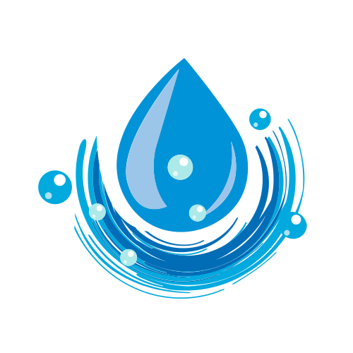Water Drop Bubbles  Logo