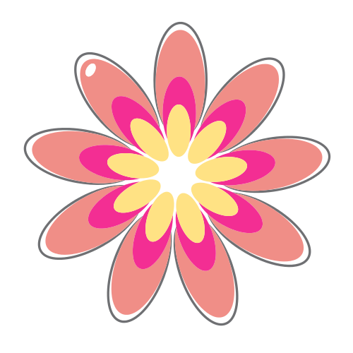 Red and Pink Flower Logo