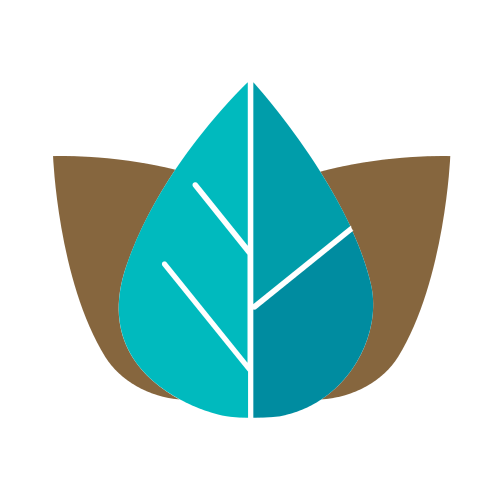 Turquoise Brown Leaves  Logo