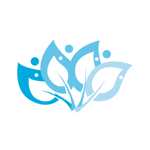 Blue Bubbly Leaves  Logo