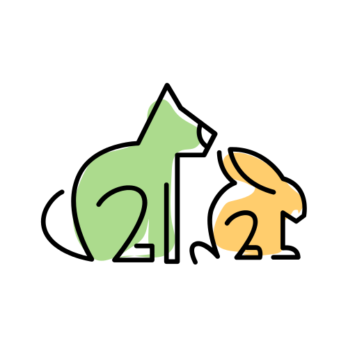 Yellow Bunny and Green Cat Logo