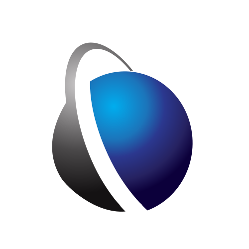 Communications World Shape  Logo