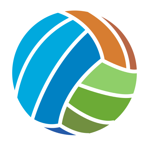 Abstract Colorful Volleyball Logo