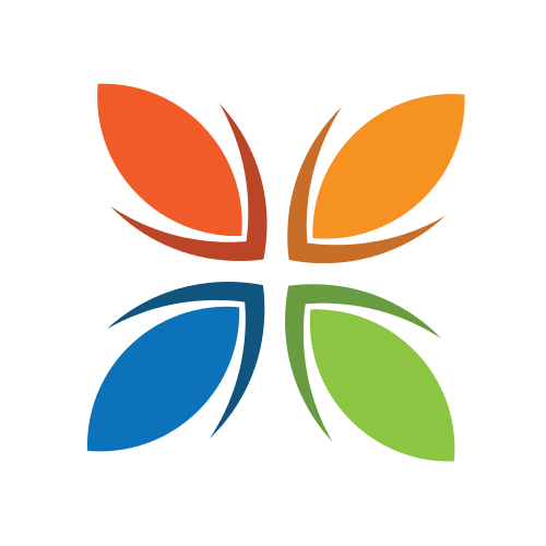 Floral Butterfly Wings  Logo
