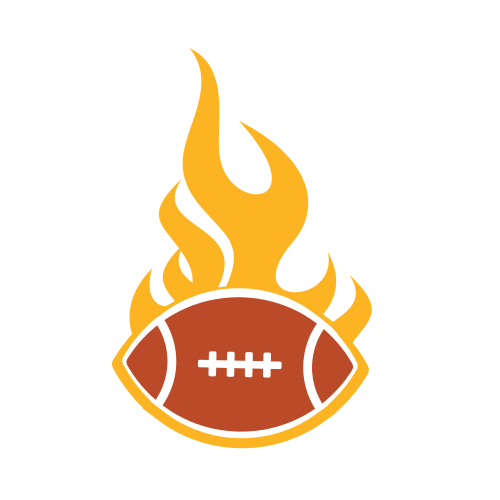 Football Game Flames Logo