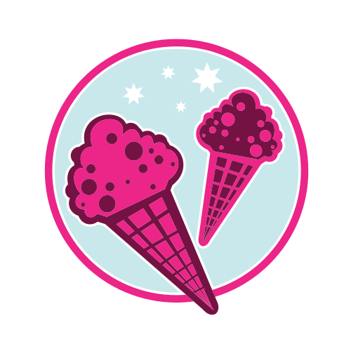 Pink Ice Cream  Logo