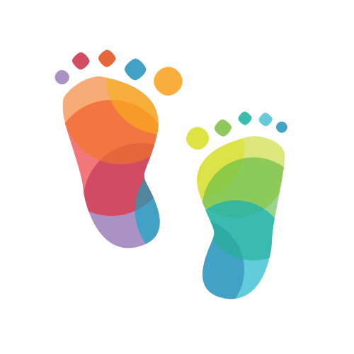 Children Foot Art  Logo