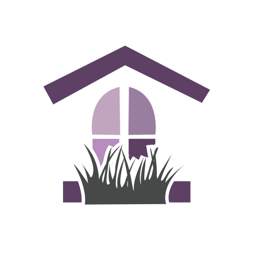 Purple House Window