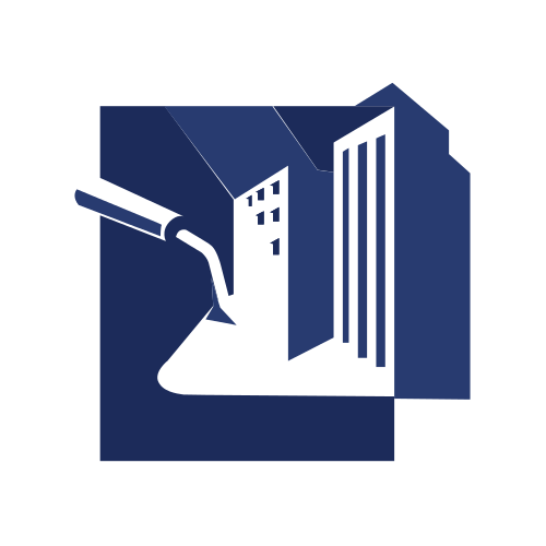 Blue Construction Building Logo