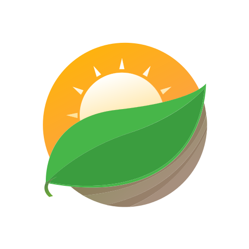 Sun and Leaf Logo
