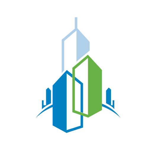 Blue and Green New York Skyline Logo