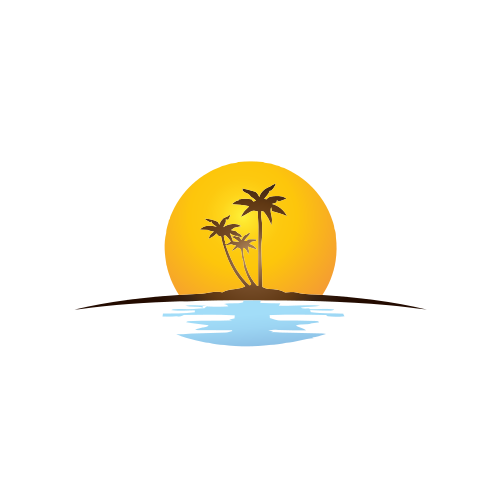 Tropical Sunset Island