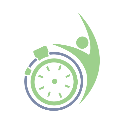 stop watch, green, person, circle