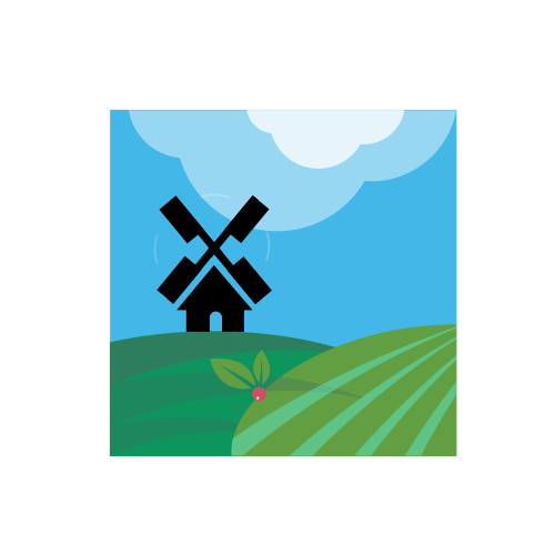 Windmill and Sky Logo