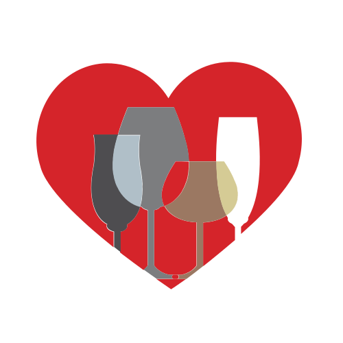 Romantic Drinks Heart Logo