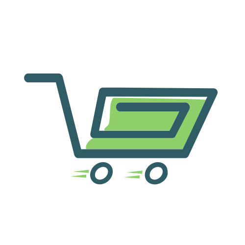 Green Retail Shopping Cart