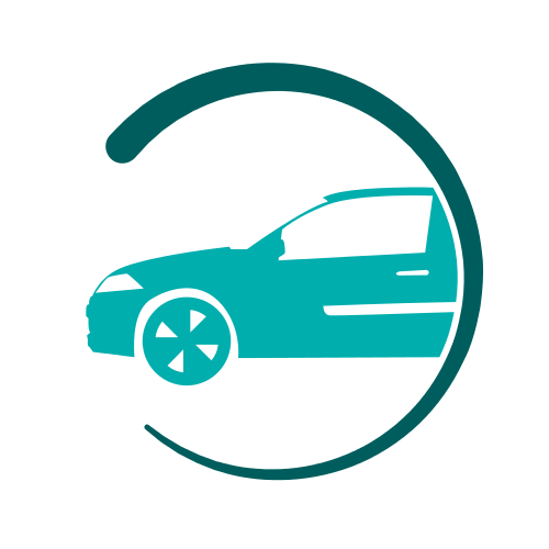 Green Car Circle  Logo