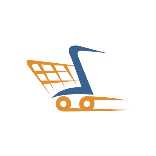Ecommerce Shopping Wheels  Logo
