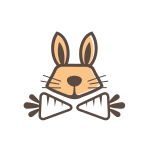 Bunny and Carrot Logo